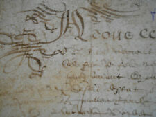 1616 ANTIQUE VELLUM MANUSCRIPT LEGAL DOCUMENT 17thCENT 7 PAGES HANDWRITTEN SIGND