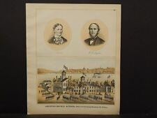 Pennsylvania Beaver County Map Soldier's Orphan School Engravings 1876 Q4#77