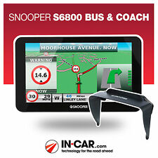 New Snooper S6800 Bus and Coach GPS Sat Nav Lifetime UK & European Mapping