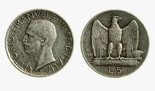 pcc2035_65) Regno Vittorio Emanuele III (1900-1943) Lire 5 Aquilino 1926