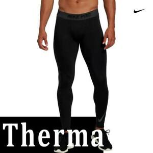 MEN'S NIKE PRO THERMA HYPERWARM COMPRESSION TIGHTS BASE LAYER CAMO GREEN BLACK