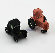 Set of 2 Disney Pixar Heifer Tipping Tractor + Lizzie Diecast Car 1:55 Toy Loose
