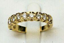 Moderner Halbmemory Ring 750 Gold 10x Brillanten 1,25 Karat - 20225 –