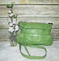 Latico Green Pebbled Genuine Leather Purse Shoulder Bag Tote Crossbody