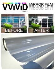 VViViD XPO 3ft x 5ft Reflective silver one way mirror privacy window decal