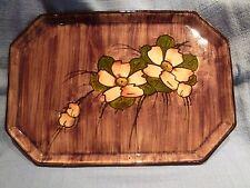 VINTAGE watcombe Vassoio di Ceramica decorati con fiori