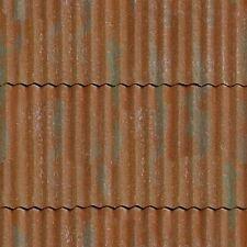 ! 4 SHEETS MATT VINYL WATERPROOF SELFADHESIVE iron 1/24 scale corrugated roof