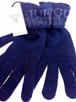 Guanti uomo lana Guess NUOVI in lana blue taglia S idea regalo cartellinati