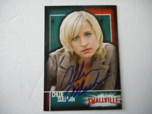 Allison Mack signed Inkworks SMALLVILLE (Chloe Sullivan)Trading Card #7 W/COA
