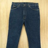 vtg usa made Levi's 517 orange tab jeans 38 x 32 tag dark blue 40517-0215
