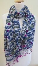 NEW! White stuff Green Teal Forest Tree Scene Print scarf RRP£25 - Slight second