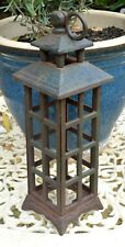 RARE ANTIQUE CAST IRON HANGING GARDEN LANTERN