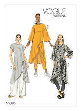 Vogue Sewing Pattern 9305 Misses Sz 16-22 Easy Tunic Shaped Hem Pull on Pants