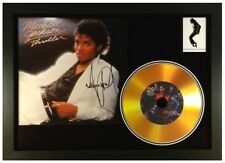 MICHAEL JACKSON 'THRILLER' SIGNED PHOTO GOLD CD DISC COLLECTABLE MEMORABILIA