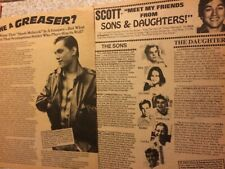 Scott Colomby, Lot of TWO Full Page Vintage Clippings