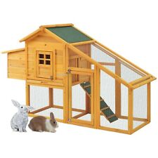 Rabbit hutch Chicken Coop Hen House Wood Run Poultry Ark Home Nest Rabbit Hutch