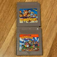 Original Donkey Kong + Wario Land 1 (NO SAVE) JAPAN Ver Nintendo GameBoy