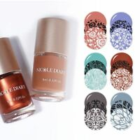 NICOLE DIARY 9ml Nail Art Stamping Polish Spring Nail Printing Varnish 8 Colors