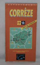 France - IGN 1:125,000 Département Map - Corrèze - 1999