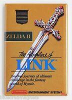 Legend of Zelda 2 FRIDGE MAGNET (2 x 3 inches) video game box adventure of link