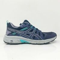Asics Womens Gel Venture 7 1012A476 Blue Running Shoes Lace Up Low Top Size 8.5