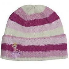 Powell Craft Ballerina design Striped Girl's Pink Knitted Cotton Beanie Hat NEW