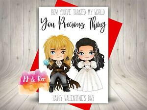 Cute Labyrinth Movie Inspired Valentines Card   You Precious Thing