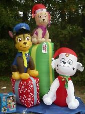 9' Gemmy Paw Patrol Chase, Marshall, Skye Lighted Christmas Airblown Inflatable
