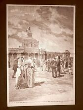 Palermo nel 1891 Palazzo delle belle arti all'Esposizione Nazionale Arch. Basile