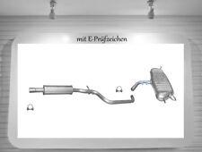 Auspuffanlage VW Golf V / Plus 1.4 55/59KW Auspuff Endtopf Mitteltopf 2x Schelle