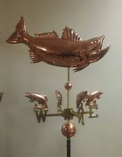 Copper Unique Large Trophy Fish Weathervane,fish directionals,no mount