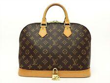 Louis Vuitton Authentic Monogram ALMA HAND Bag Purse Auth LV