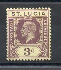 ST LUCIA 1930 GEORGE 5TH 3d DEEP PURPLE/PALE YELLOW SG,100a M/MINT LOT 4373B