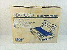 NEW Vintage STAR NX-1000 Multi Font Printer New Distressed Box Dot Matrix