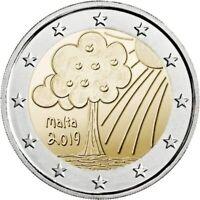 MALTA Nature and Environment - 2 Euro Commemorative Coin - 2019 Issue UNC - RARE