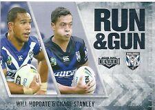 2016 NRL Elite Run & Gun (RG 5 / 32) Will HOPOATE / Chase STANLEY Bulldogs