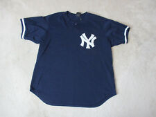 VINTAGE Thurman Munson New York Yankees Baseball Jersey Adult Extra Large Blue