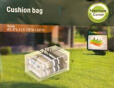 Hentex Outdoor Patio Furniture Cushion & Cover Storage Bag Water Resistant