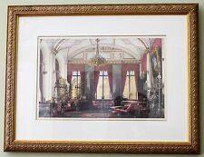 4 Matching Prints - Interior Scenes - Exceptional Condition 21 x 16