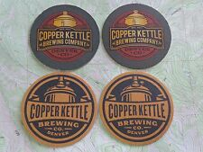 4 Beer Coasters ~ COPPER KETTLE Brewing Co ~ Denver, COLORADO Award Winning Brew