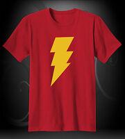 Shazam Logo Symbol NEW T-Shirt Sizes/Colors Available S-M-L-XL !!!