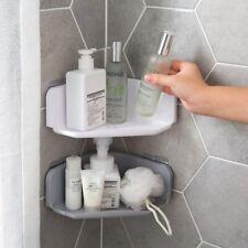 Bathroom Storage Rack Corner Drain Shelf Holder Powerful Wall-Mounted Wash Shelf
