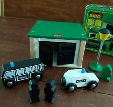 BRIO POLICE STATION 33576 7pc COMPLETE NEW in Box