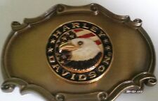 New Vtg. Harley Davidson Belt Buckle 1978 75th Anniv. Raintree - HD Patriot