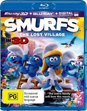Smurfs 3 The Lost Village 2D & 3D Blu-ray Region B New! *