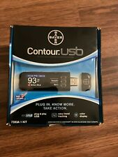Bayer Contour USB Blood Glucose Monitoring System 7393A 1 Kit Exp-2016 Free Ship