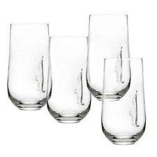 Silhouette 17-ounce Crystal High Ball Glasses (Set of 4)
