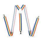 Colorful Unisex Mens Womens Adjustable Braces Elastic Y-Shape Clip-on Suspenders