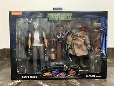 NECA TMNT Teenage Mutant Ninja Turtles Casey Jones & Raphael Box Creases See Pic