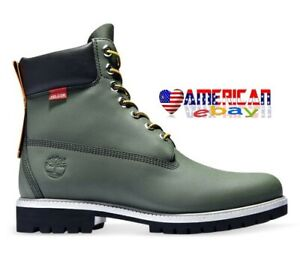 TIMBERLAND MEN'S PREMIUM 6-INCH RUBBER CUP DARK GREEN HELCOR BOOT A2NBA ALL SIZE